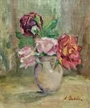 Розы у глиняном кувшине, фото №2