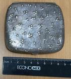 Серебряная пудреница 800 пробы, фото №6