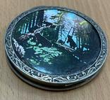 """Серебряная пудреница """"Мишки на дереве"""" 875 пробы, фото №2"""