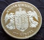 100  крон 1908  року Австро-Угорщина /поЗОЛОТА 999/ копія, фото №3