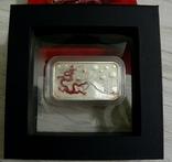 Год Дракона, КРАСНЫЙ ДРАКОН - унция, серебро 999, 1 доллар - 2012 - ПОЛНЫЙ КОМПЛЕКТ, фото №2