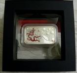 Год Дракона, КРАСНЫЙ ДРАКОН - унция, серебро 999, 1 доллар - 2012 - ПОЛНЫЙ КОМПЛЕКТ, фото №3