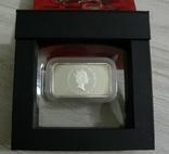 Год Дракона, КРАСНЫЙ ДРАКОН - унция, серебро 999, 1 доллар - 2012 - ПОЛНЫЙ КОМПЛЕКТ, фото №4