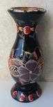 Деревянная расписная ваза с дарственной надписью, фото №2