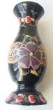 Деревянная расписная ваза с дарственной надписью, фото №3