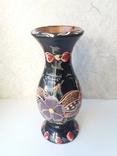 Деревянная расписная ваза с дарственной надписью, фото №6