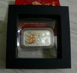 Год Дракона, Желтый Дракон - унция, серебро 999, 1 доллар - 2012 - Полный Комплект, фото №2