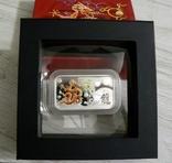Год Дракона, Желтый Дракон - унция, серебро 999, 1 доллар - 2012 - Полный Комплект, фото №3