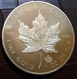 50 доларів Канада  2015 року.  (позолота 999)  копія, фото №2