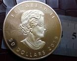 50 доларів Канада  2015 року.  (позолота 999)  копія, фото №4