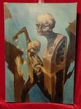 """""""Золотой ключик"""",В.Голыный,1989 г.,х/м., фото №2"""