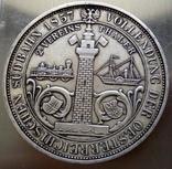 2 таляра/срібло 900/ 1857 Австр-Угорщина /відкриття залізної дороги в Трісті//копія/, фото №2