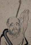 """""""Самурай"""",шёлк/тушь,начало 20 века, Япония, фото №5"""