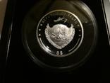 Год Козы, высокий рельеф - серебро 999 с позолотой, унция - Полный Комплект., фото №4
