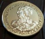 2 рублі 1726 року Московія  - копія золотої, не магнітна,  позолота 999, фото №3