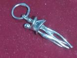 Влюбленные. Кулон из серебра. Родированное., фото №2