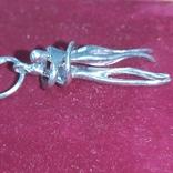 Влюбленные. Кулон из серебра. Родированное., фото №11