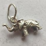 Слон. Подвеска. Серебро., фото №4