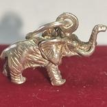Слон. Подвеска. Серебро., фото №2