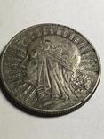 5 злотых 1934 Монета. Польша. Ядвига, фото №2