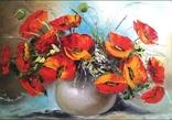 Картина Красные маки живопись 50х70 см, фото №2