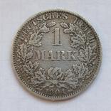 1 марка 1904 г. (А), Германия, серебро, фото №2