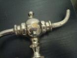 Кран фонтанчик перевёртыш латунь хром, фото №5