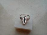 Перстень срібний СССР з ніфритом р.21 - 22, фото №6