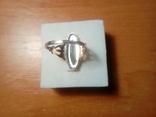 Перстень срібний СССР з ніфритом р.21 - 22, фото №7