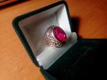 Срібний перстень СССР р. 18 з позолотою, фото №4