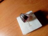 Срібний перстень СССР р. 18 з позолотою, фото №10