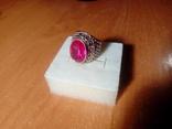 Срібний перстень СССР р. 18 з позолотою, фото №11