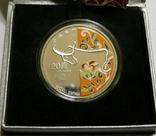 Макао, 20 патакас - Год Быка - серебро 999, унция, 2009 год -, фото №3