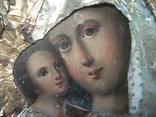 21Я14 Икона Богоматерь, Богородица, Матерь Божья, Спаситель. Дерево, масло, фольга, фото №7