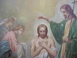 21Я18 Икона Крещение Господне. Дерево, письмо, фото №9