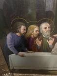 Большая икона на холсте Тайная вечеря 100х55 см, фото №5