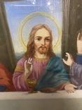 Большая икона на холсте Тайная вечеря 100х55 см, фото №7