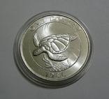 Бермудские Острова, 1 доллар,1986 - Всемирный фонд дикой природы. ЧЕРЕПАХА - серебро, фото №2