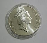 Бермудские Острова, 1 доллар,1986 - Всемирный фонд дикой природы. ЧЕРЕПАХА - серебро, фото №5