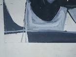 """Одесса,Е.Рахманин""""Абстрактная композиция"""", б.акрил, 58*76см в раме, 1996г, фото №4"""