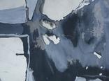 """Одесса,Е.Рахманин""""Абстрактная композиция"""", б.акрил, 58*76см в раме, 1996г, фото №11"""