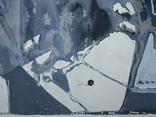 """Одесса,Е.Рахманин""""Абстрактная композиция"""", б.акрил, 58*76см в раме, 1996г, фото №13"""