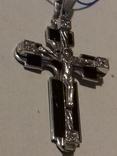 Крестик серебро с эмалями,925пр., фото №5