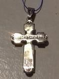 Крестик серебро с эмалями,925пр., фото №6
