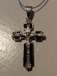 Крестик серебро с эмалями,925пр., фото №8