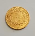 20 франков 1877 год, Франция, золото 6,45 грамм 900, фото №10