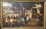 Картина, жанровая сцена .Праздник .подпись .115х75 см, фото №2