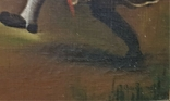 Картина, жанровая сцена .Праздник .подпись .115х75 см, фото №6