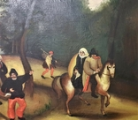 Картина жанровая сцена XX век. Подпись. 115х75 см, фото №5