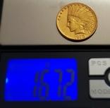 10 дол. США 1913г. золото 16,7 грамм 900, фото №4